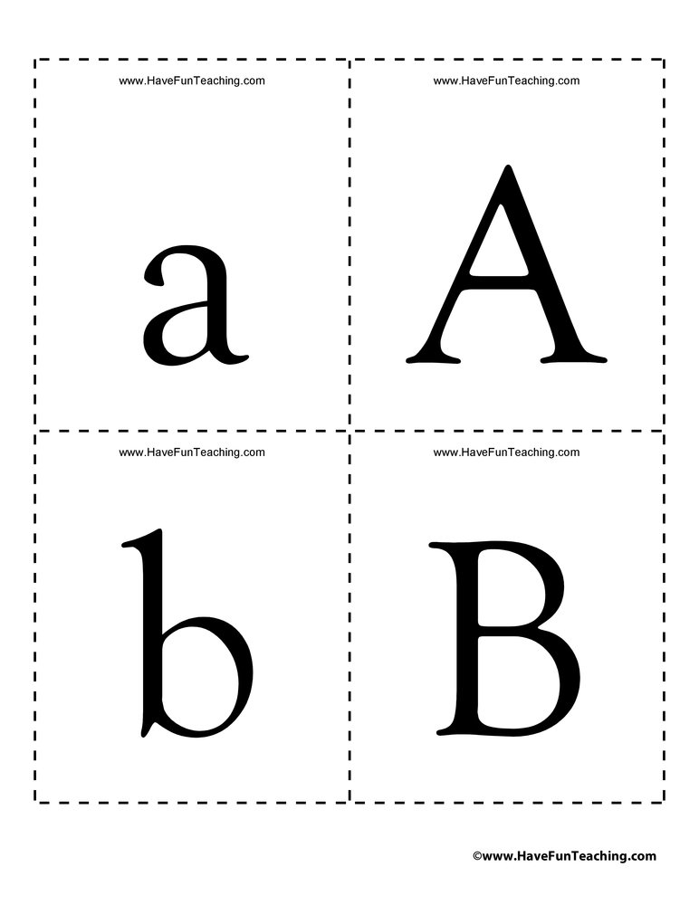 Alphabet Flash Cards - Uppercase and Lowercase Have Fun Teaching