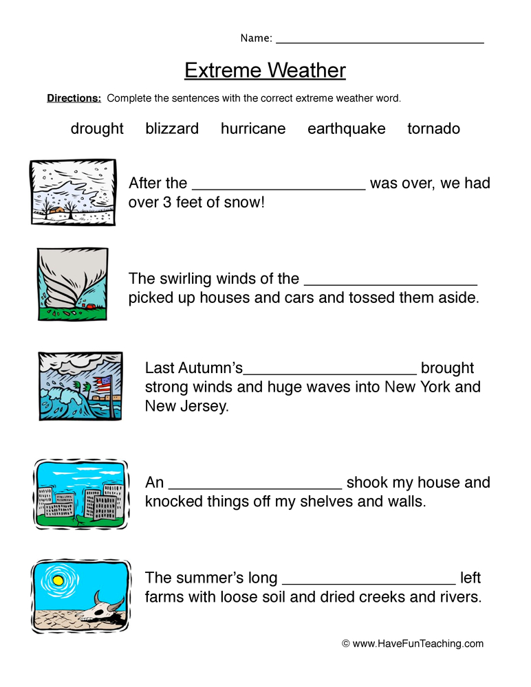 Resources Third Grade Science Weather