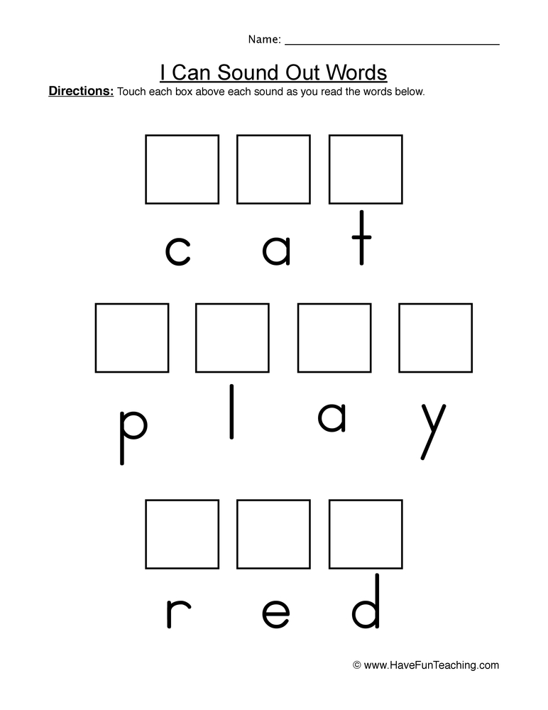 Elkonin Boxes Worksheets Printable Worksheets - dinosauriensinfo