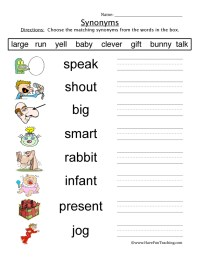 Kindergarten Antonyms Worksheets