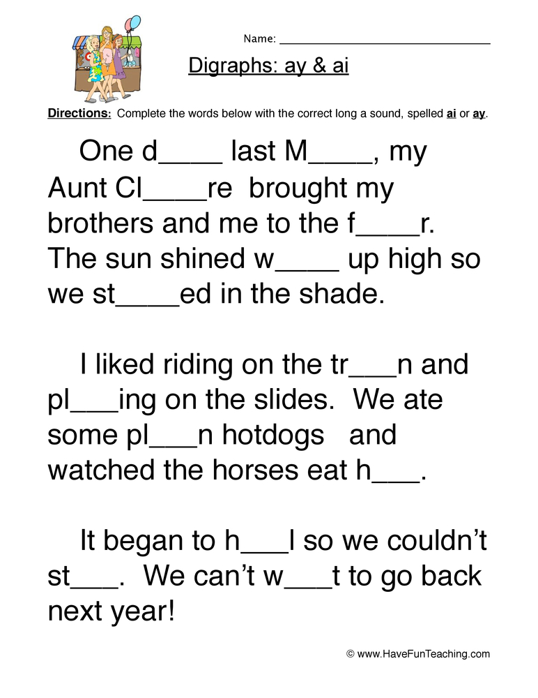 Phonics Worksheets Have Fun Teaching