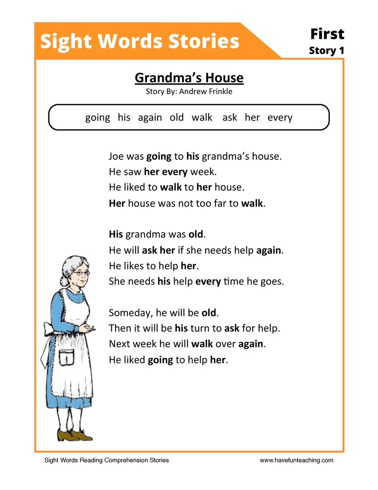 Resources Reading Sight Words Worksheets