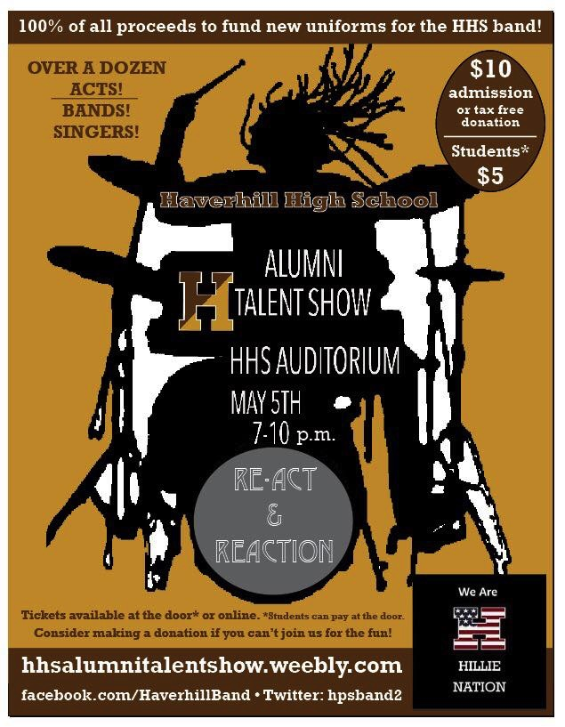 HHS Alumni Talent Show \u2013 Friday, May 5th Haverhill Public Schools