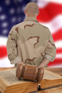 Soldier in courtroom