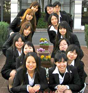 group of female students