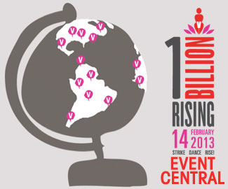 One Billion Rising event logo