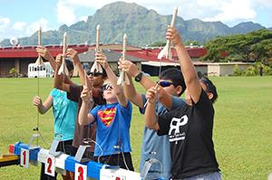 Kauaʻi middle school students particiaped in a rocket launch.
