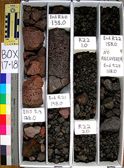 box of core samples