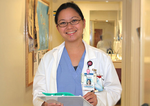 doctor at physician center