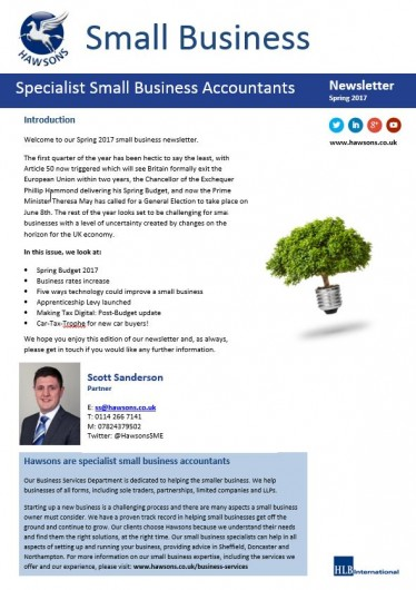 Small business newsletters for SMEs and entrepeneurs Hawsons