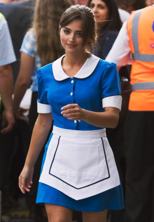 Tardis Girl Wallpaper Jenna Louise Coleman On The Set Of Doctor Who In Cardif 08