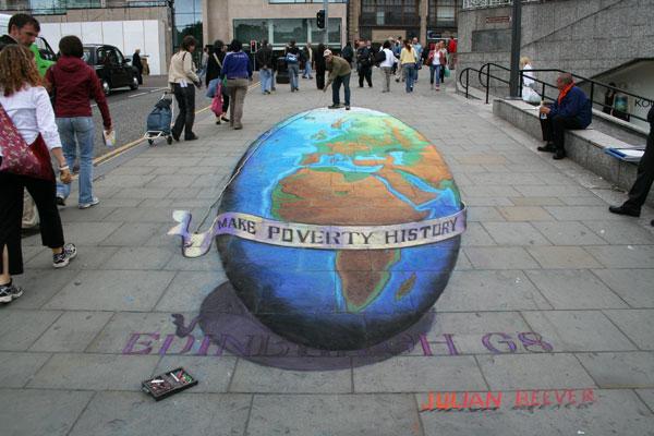 Julian Beever globe-i