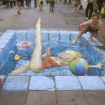 Julian Beever swim-i
