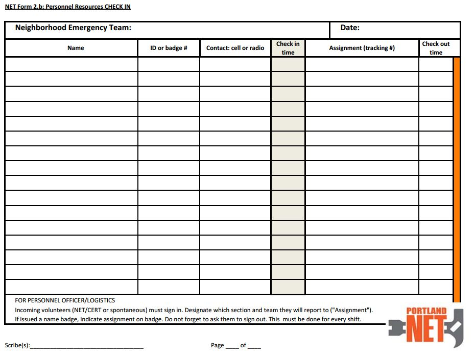 Volunteer Tracking Form Template Net Forms Hayden Island Net