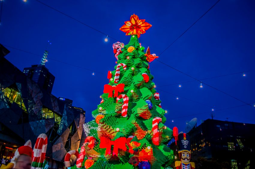 Melbourne Christmas at Fed Square: Lego Tree