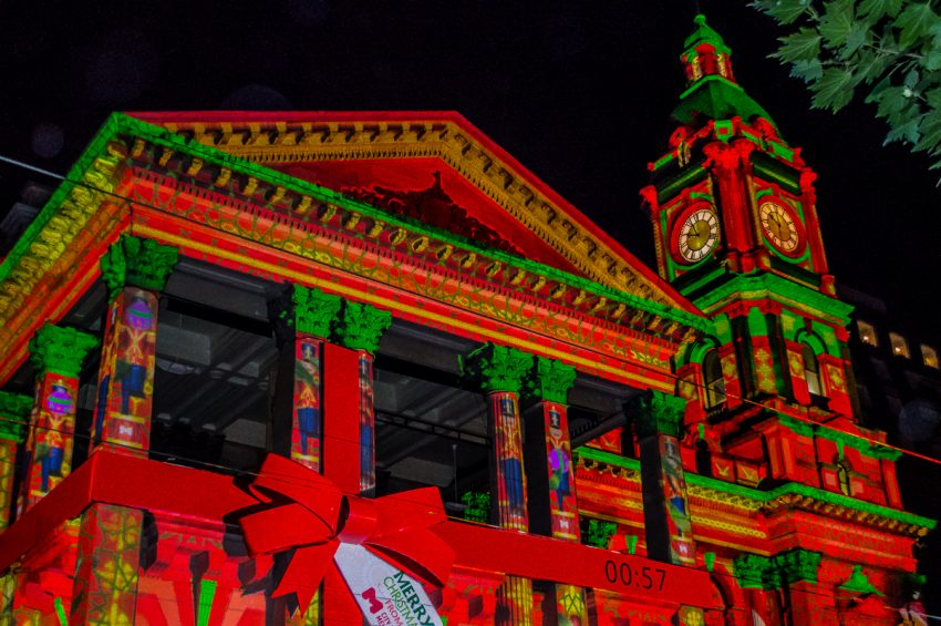 Melbourne Christmas Lights at Town Hall
