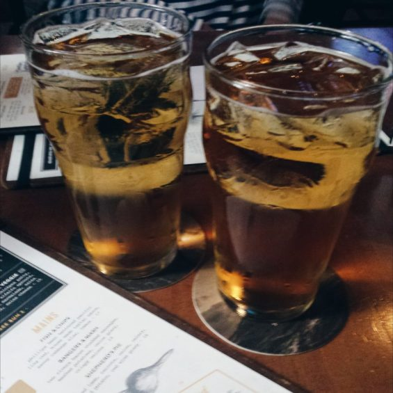 Cider at The Lamplighter in Vancouver, Canada