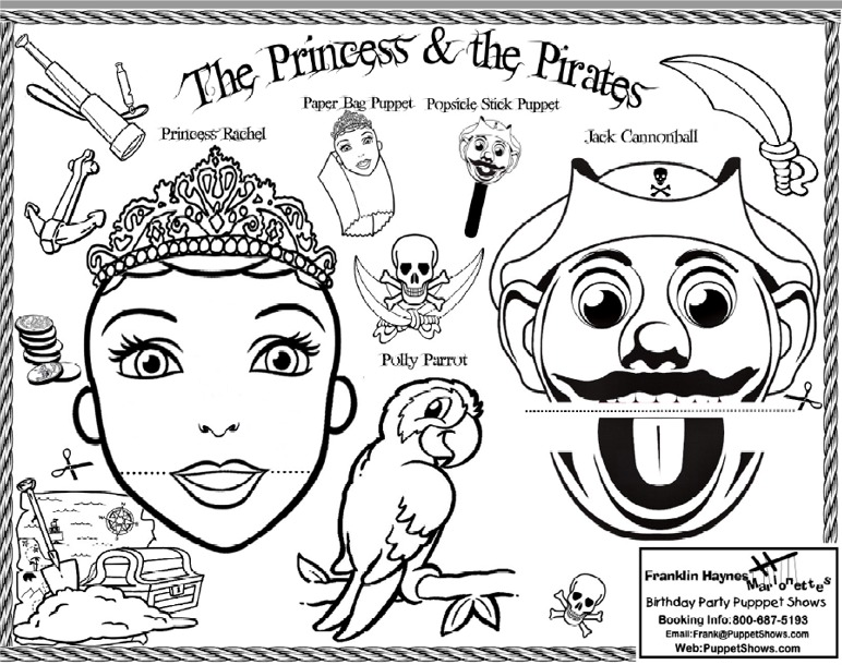 Coloring Sheets - puppet templates