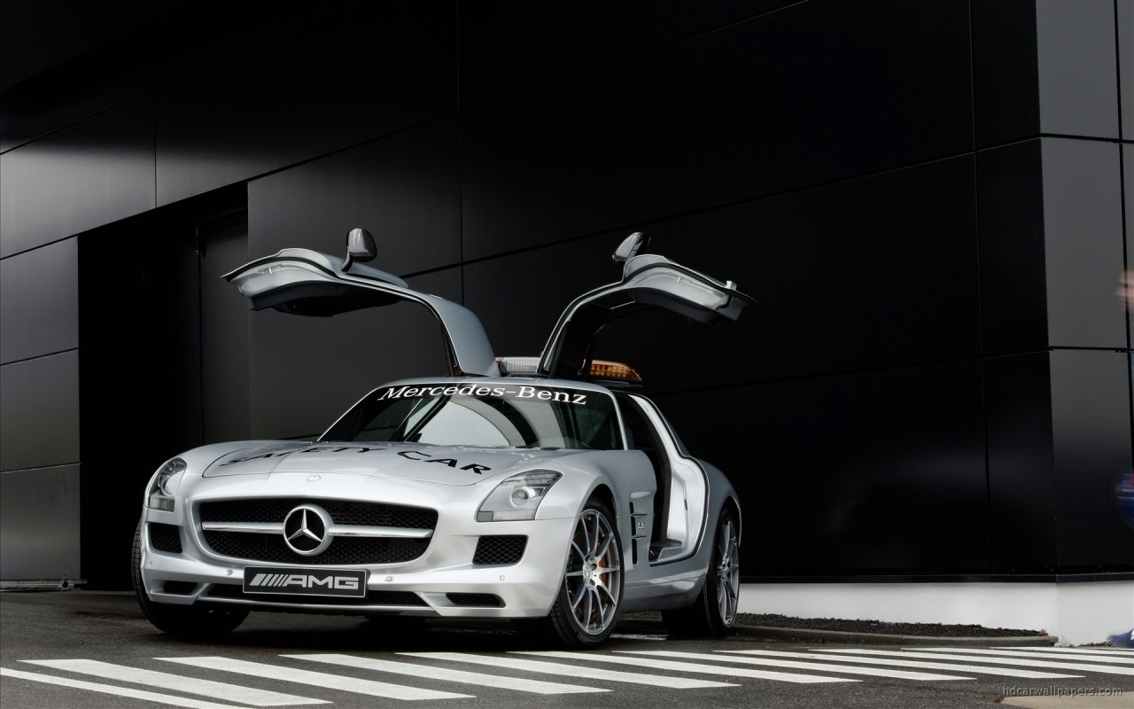 Latest Bmw Cars Hd Wallpapers 2010 Mercedes Benz Sls Amg F1 Safety Car Wallpaper Hd
