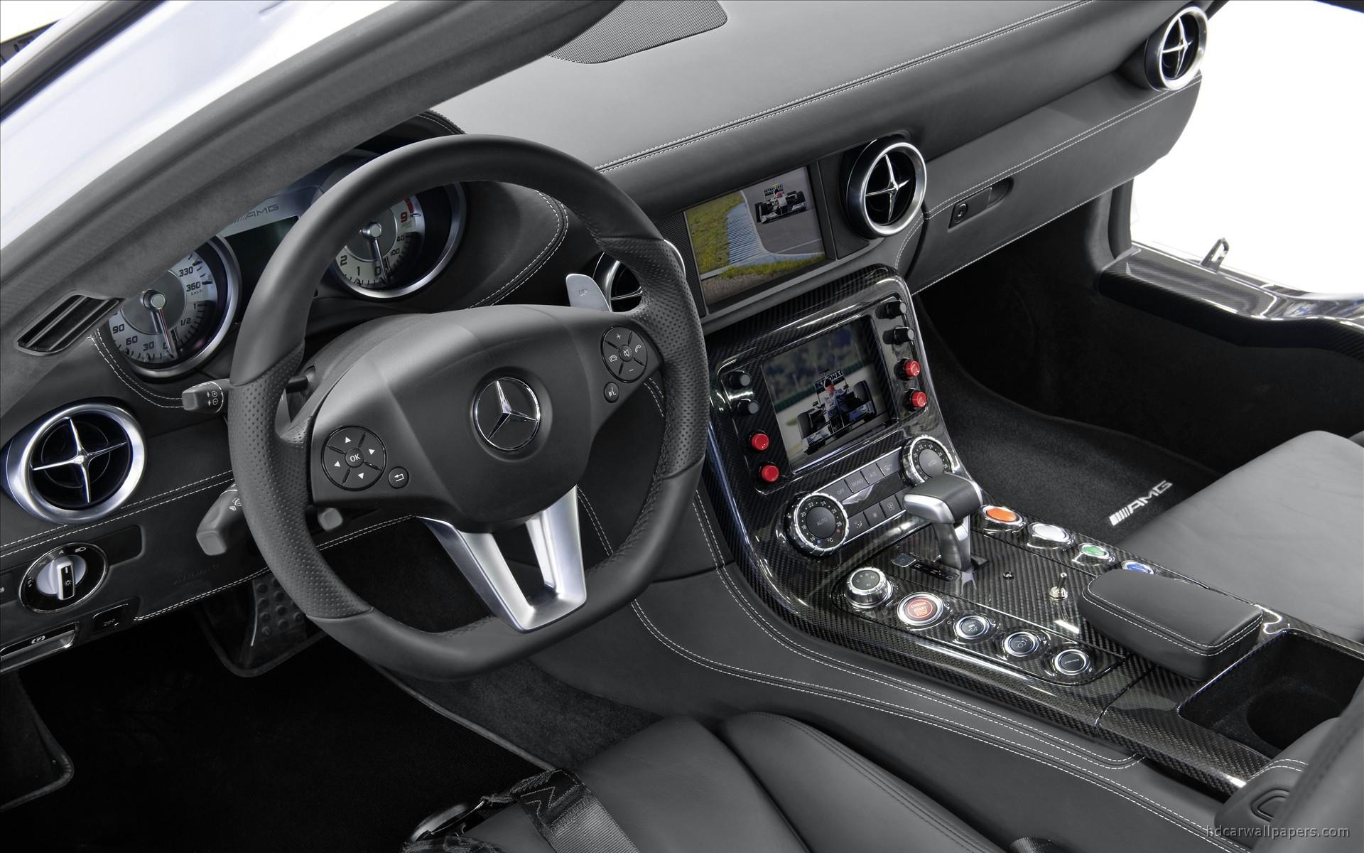 Iphone X Inside Wallpaper Hd 2010 Mercedes Benz Sls Amg F1 Safety Car Interior