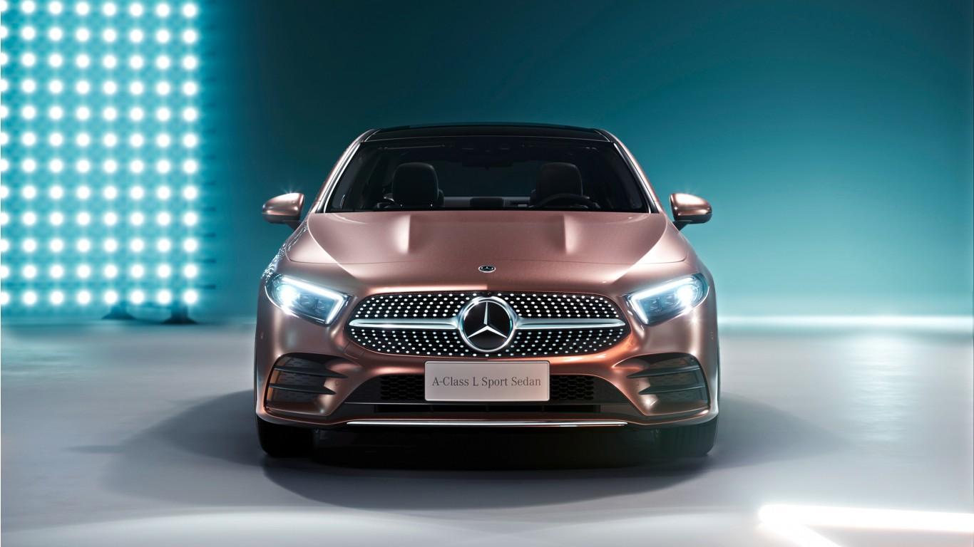 Download Black Hd Wallpapers For Android 2019 Mercedes Benz A200 L Sport Sedan Wallpaper Hd Car