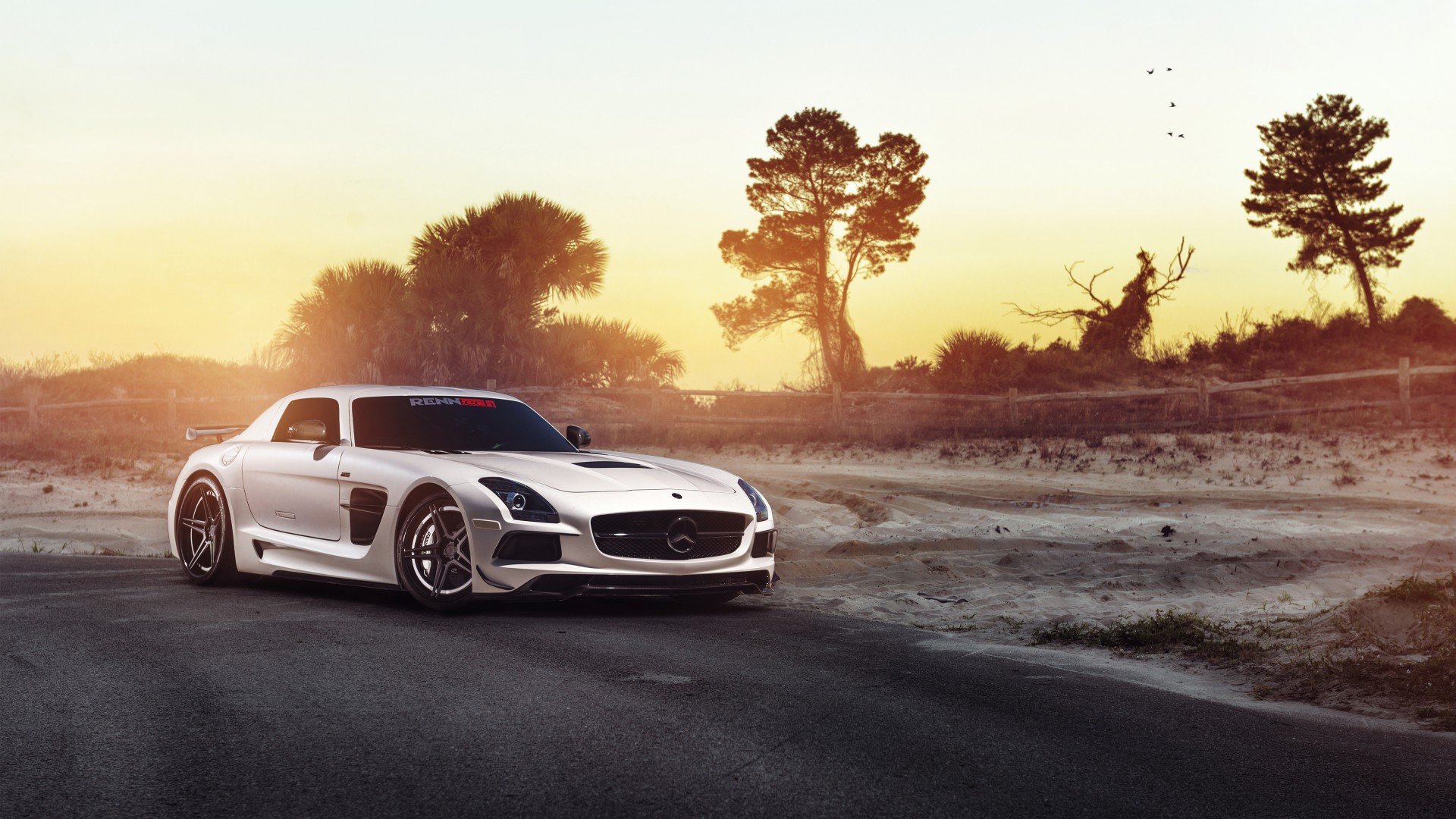High Resolution Muscle Car Wallpapers Adv1 Renntech Mercedes Sls Black Series Wallpaper Hd Car