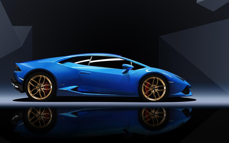 Lamborgini Sports Car Hd Wallpaper Blue Lamborghini Huracan Wallpaper Hd Car Wallpapers