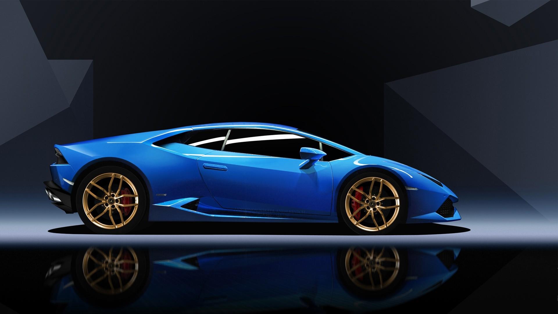 Sports Car Wallpaper Lamborghini 3d Blue Lamborghini Huracan Wallpaper Hd Car Wallpapers