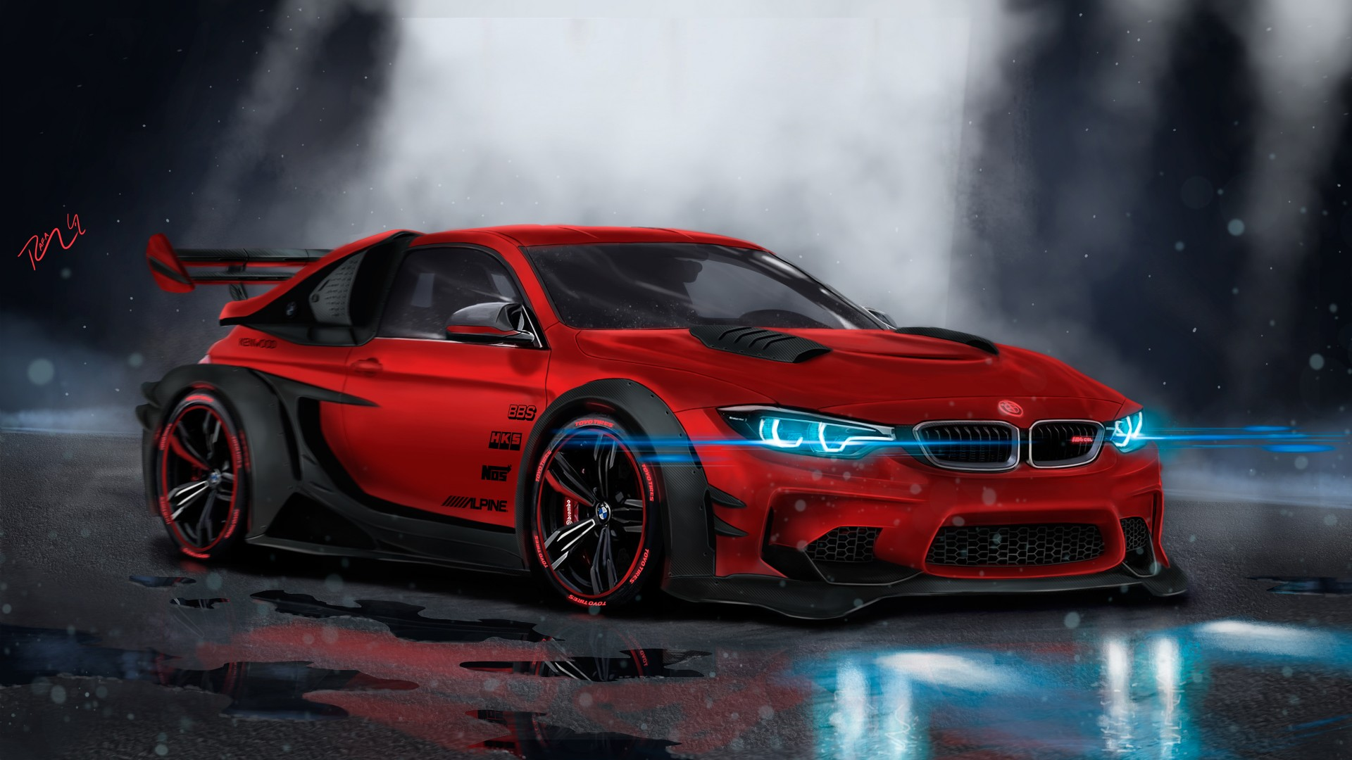 Bmw M Wallpaper Iphone X Bmw M4 Custom Cgi 4k Wallpaper Hd Car Wallpapers Id 9028