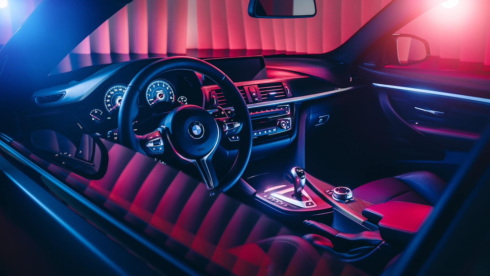 bmw m4 m performance interior 4k wallpaper