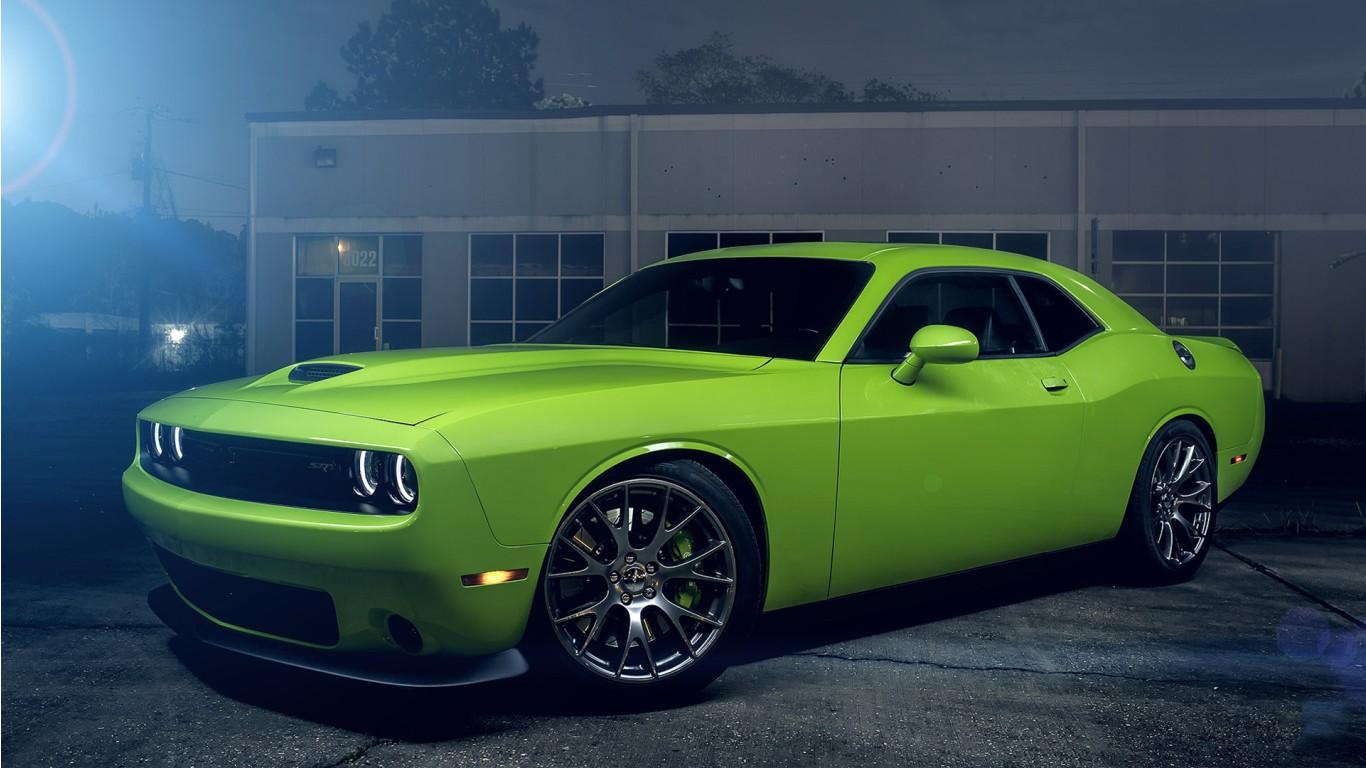 Bmw Hd Wallpapers 1080p Download Dodge Challenger Srt Hellcat Green Wallpaper Hd Car
