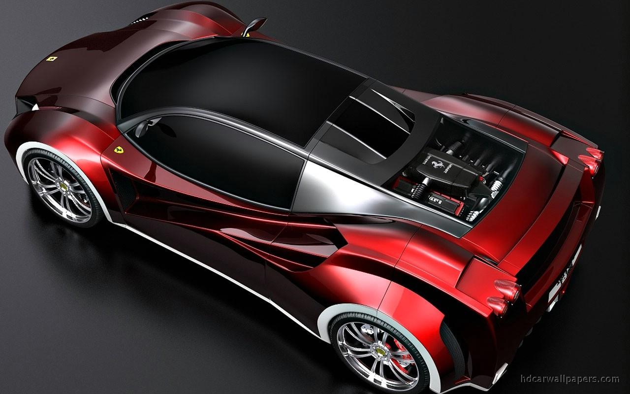 Racing Car Wallpaper 1080p Ferrari Concept Rear Wallpaper Hd Car Wallpapers Id 743