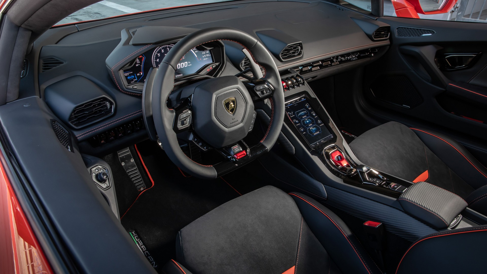 Car Wallpaper Hd For Iphone Lamborghini Huracan Evo Interior 5k 2019 Wallpaper Hd