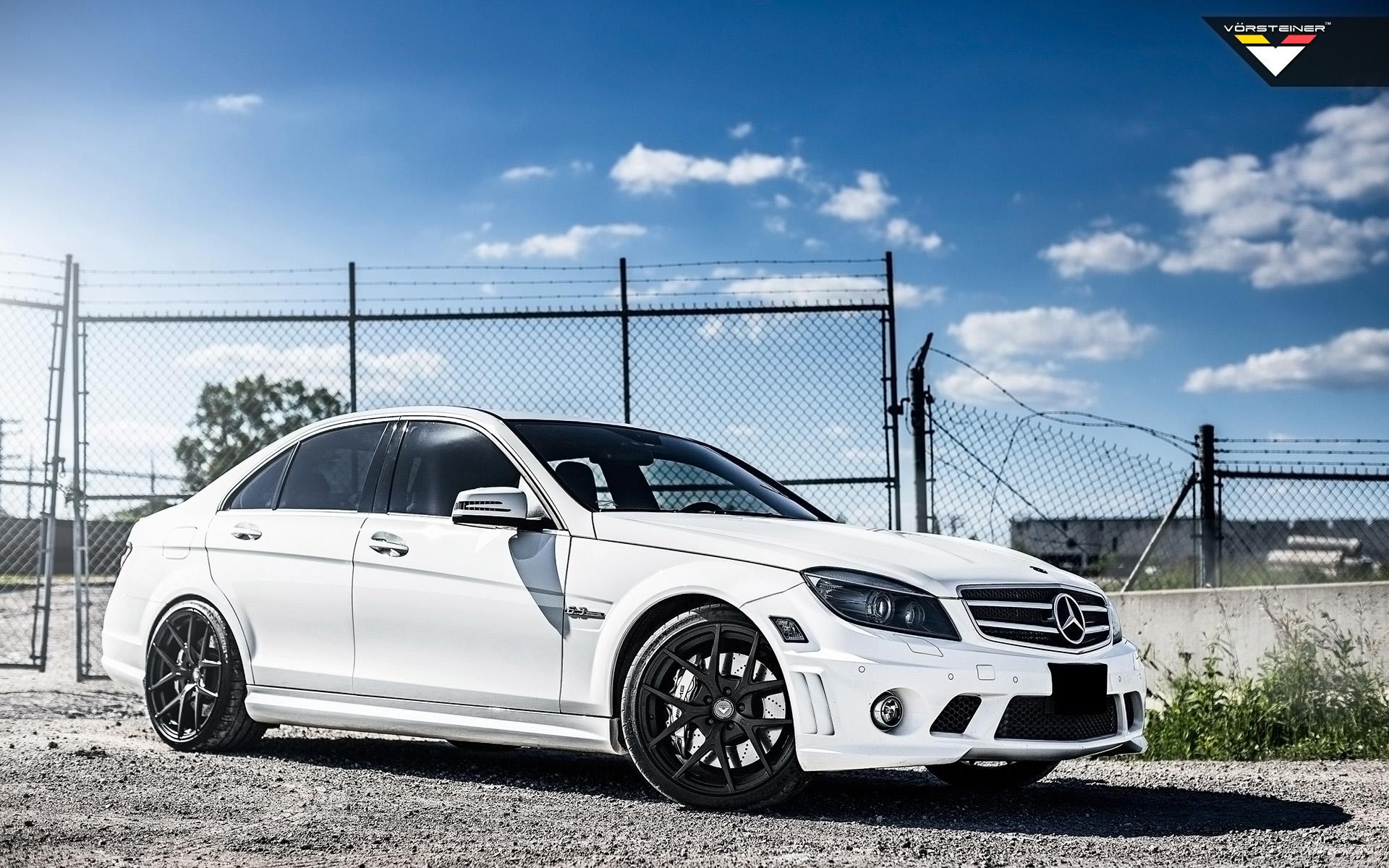 White Audi Car Wallpaper 2014 Vorsteiner Mercedes Benz C63 Amg Wallpaper Hd Car