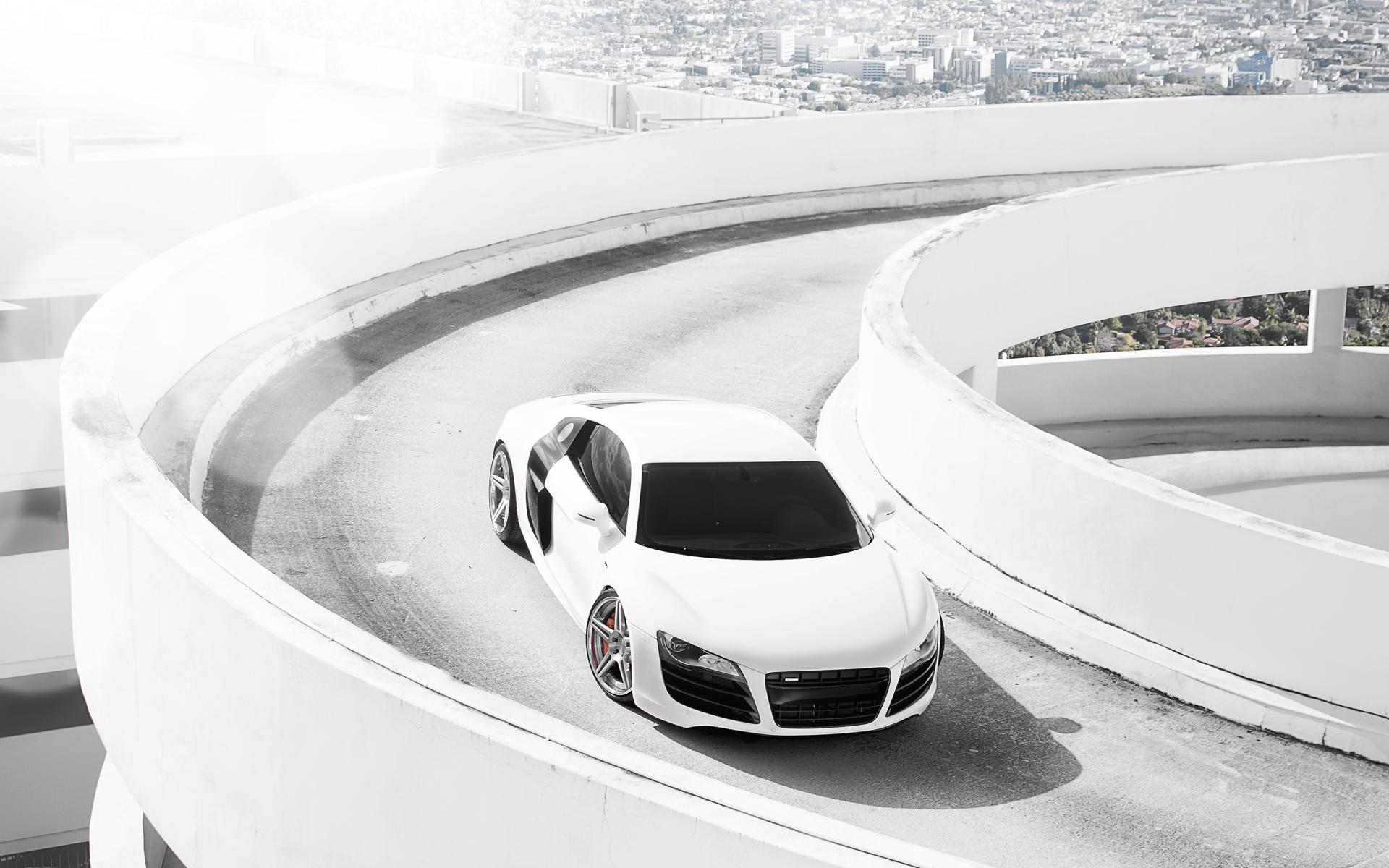 Car In Forrest Hd Wallpaper Audi R8 White Wallpaper Hd Car Wallpapers Id 2601
