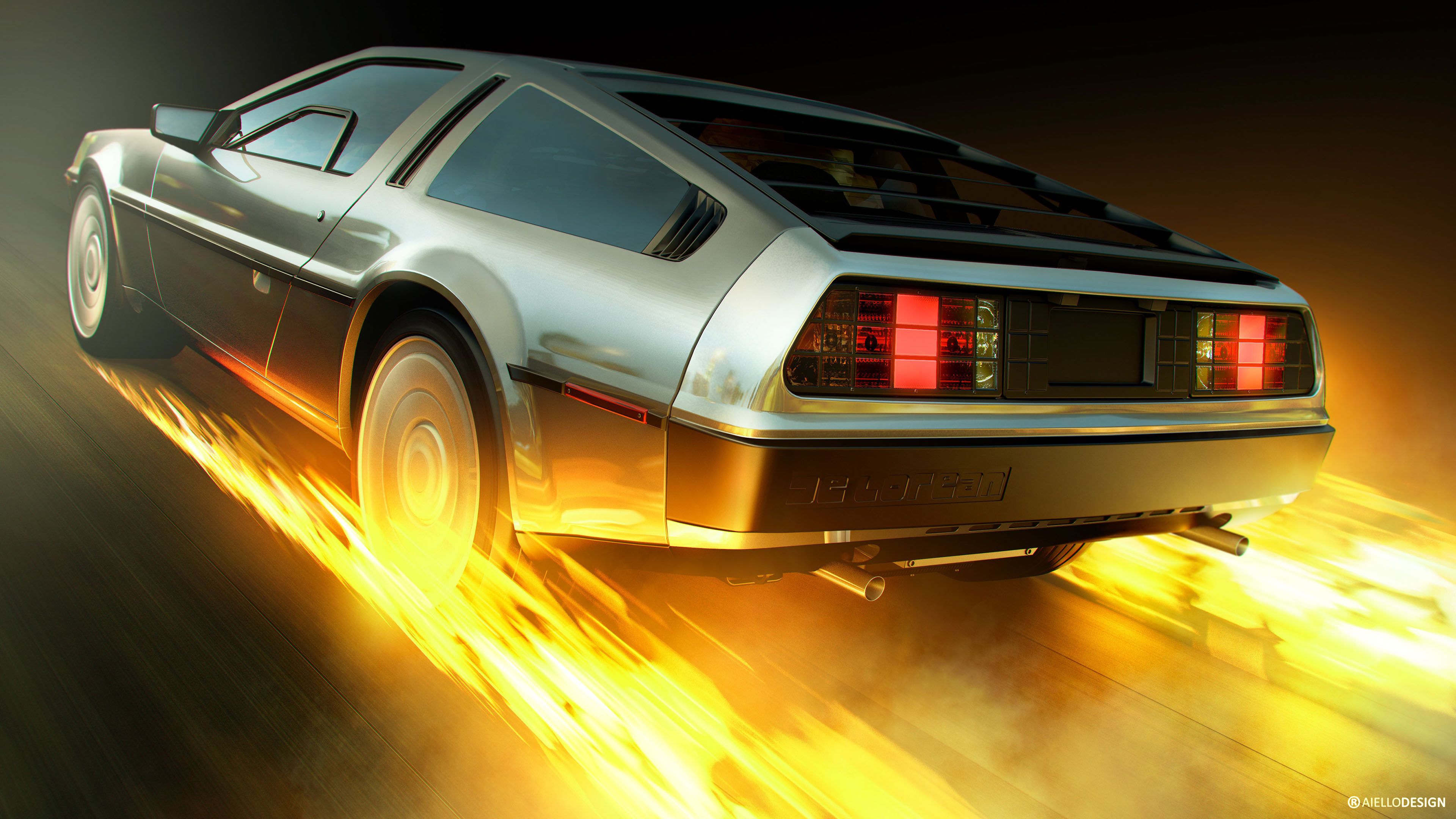 Jaguar Iphone Wallpaper Back To The Future Delorean 4k Wallpaper Hd Car