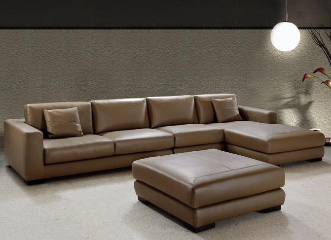 ID: HT SOF10, Modern brown sofa