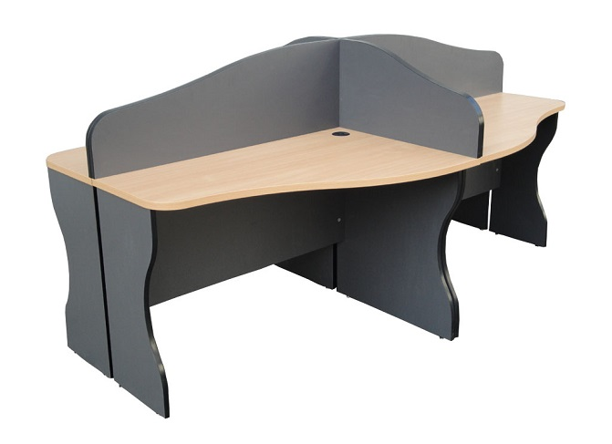HT WS25, 4-Seater Stylish Workstation Table
