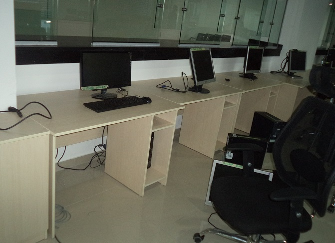 ID: HT WS24, Contemporary Computer Workstation Table