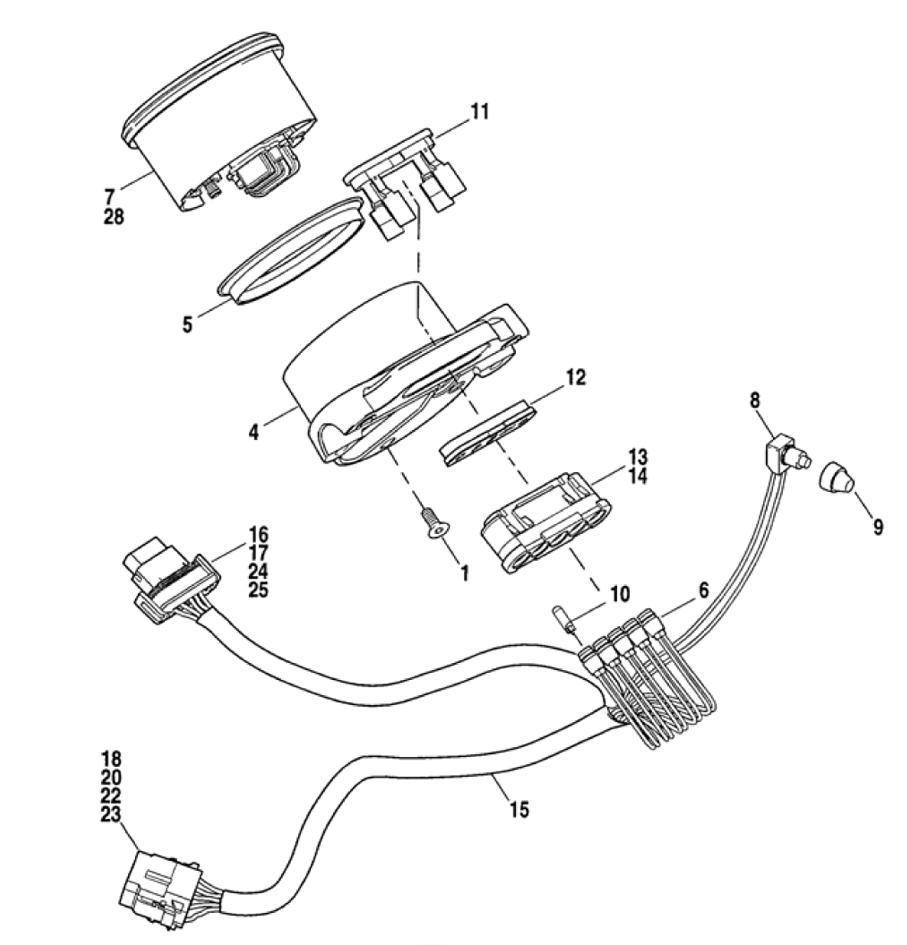 2004 harley davidson speedometer wiring diagram