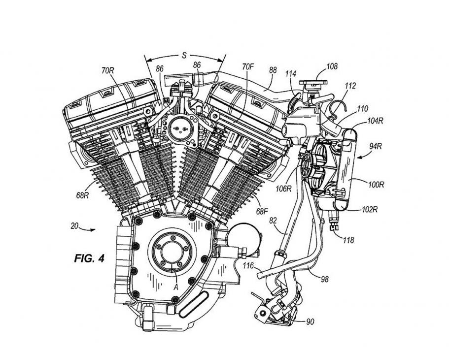 harley 110 Motor diagram
