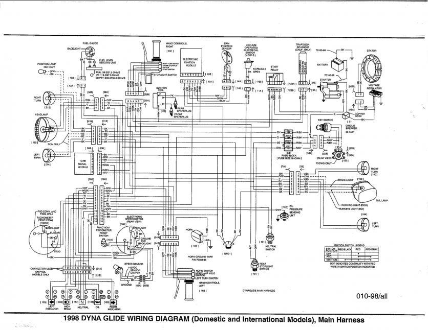 2007 harley fatboy diagrama de cableado
