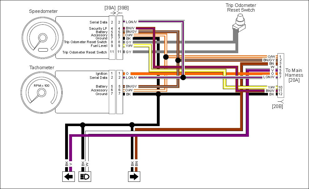 hd flhx turn signal wire diagram