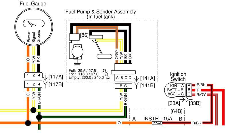 harley fuel gauge wiring diagram