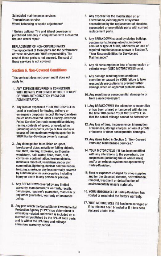 Buying Used Bike with Extended Warranty? - Page 2 - Harley Davidson