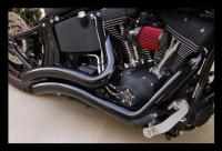 *Black* Vance & Hines Big Radius Pipes/Exhaust for ...