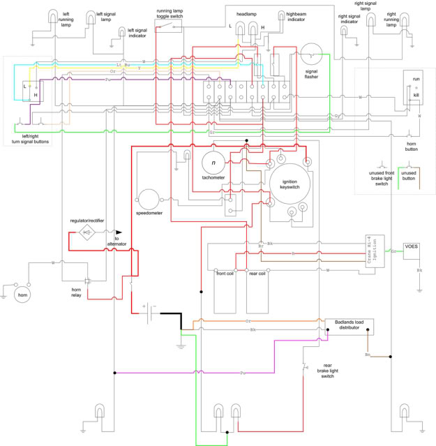 harley softail wiring harness schematics wp105