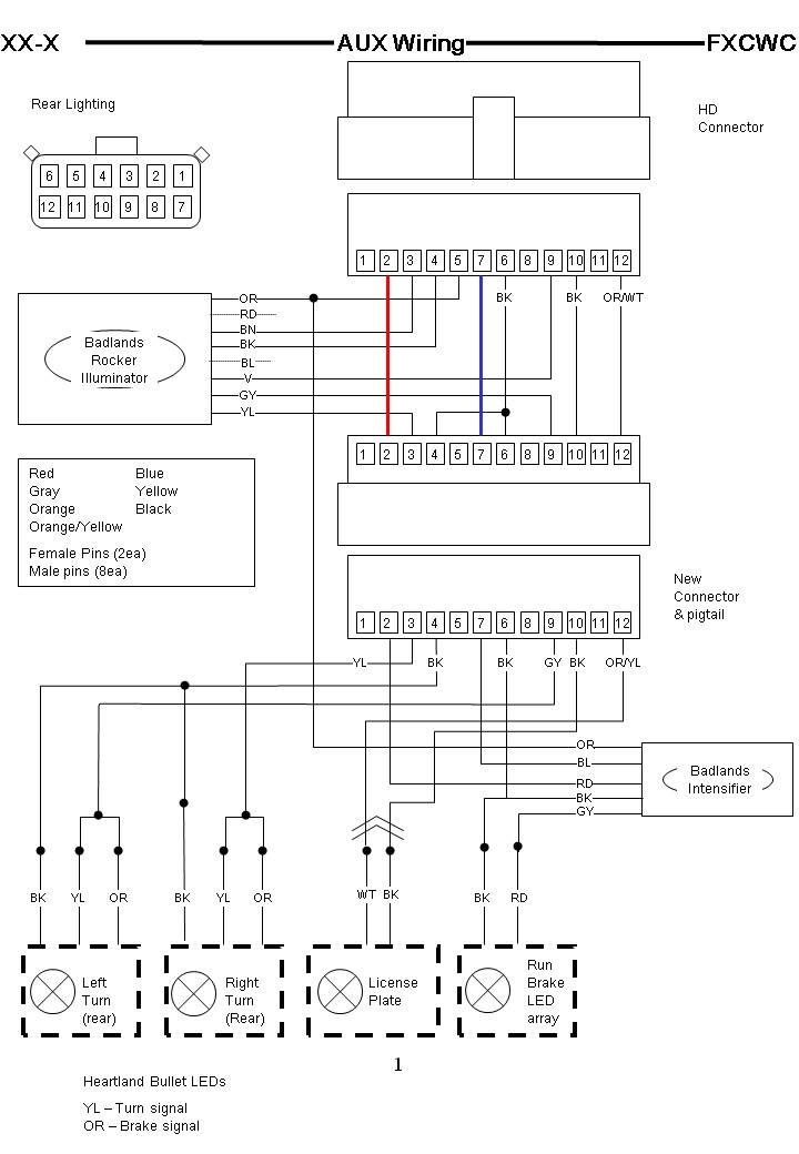 wiring diagram 2008 harley davidson rocker