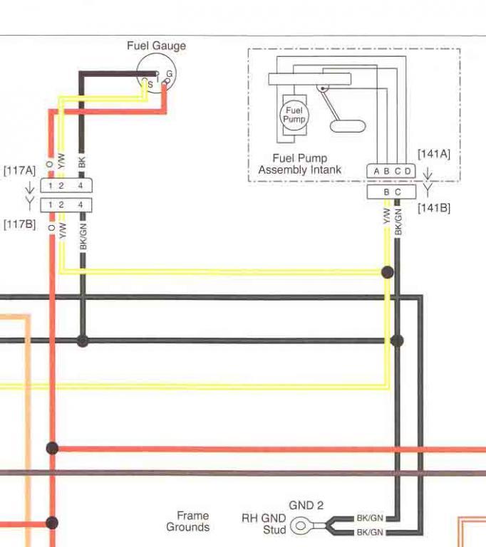 08 fuel sender wiring help - Harley Davidson Forums