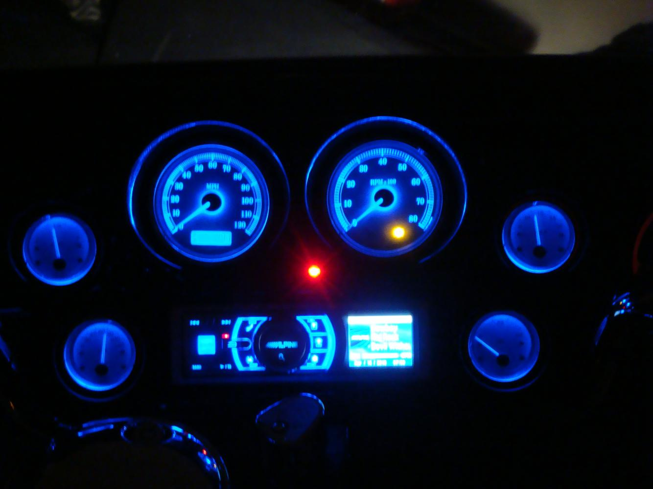 Ipod Car Wallpapers Finally Done Stereo Blue Gauges And Painted Fairind